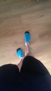 Mini hardloop sokjes wat een helden! Met de stelten die me vandaag voortduwde!